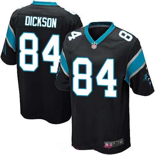 Men's Carolina Panthers #84 Ed Dickson Black Team Color Stitched NFL Nike Game Jersey
