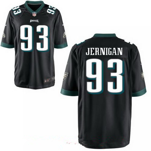 mens philadelphia eagles 93 timmy jernigan black alternate stitched nfl nike game jersey