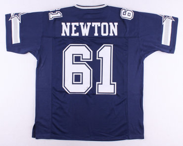 Dallas Cowboys #61 Nate Newton Navy Blue Throwback Jersey
