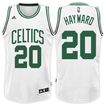 brand new 22ae9 e31bc Boston Celtics #20 Gordon Hayward Home White New Swingman ...