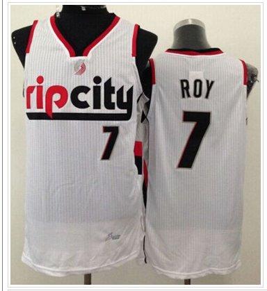 huge discount 8e650 8c6ad Portland Trail Blazers #7 Brandon Roy White Throwback NBA ...