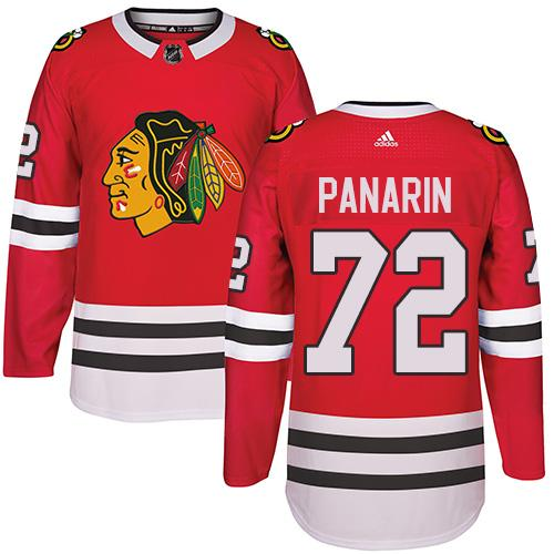 Adidas Chicago Blackhawks #72 Artemi Panarin Red Home Authentic Stitched NHL Jersey