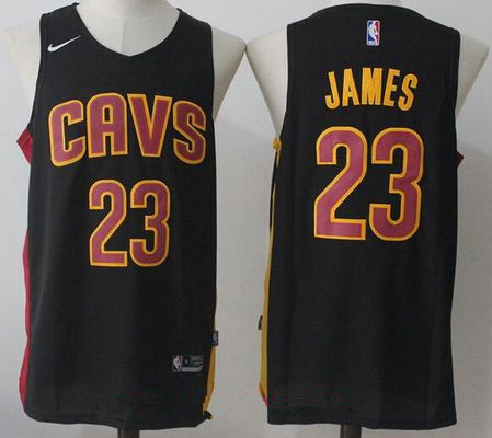 new product ab2c3 961b2 cleveland cavaliers black jersey nike