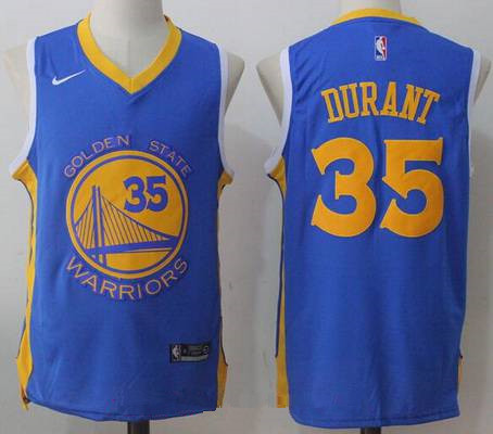 Men s Golden State Warriors  35 Kevin Durant Royal Blue 2017-2018 Nike  Swingman Stitched eb130d953