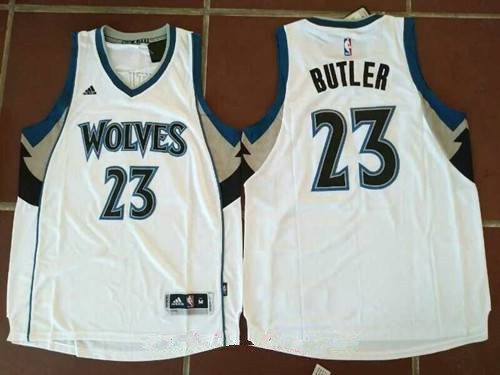 Men s Minnesota Timberwolves  23 Jimmy Butler White Stitched NBA adidas  Revolution 30 Swingman Jersey cdf1ac2d5