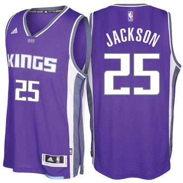 reputable site bd816 ea75f Sacramento Kings #25 Justin Jackson Road Purple New Swingman ...