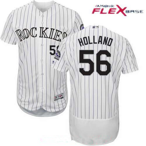 1a716494c ... best price mens colorado rockies 56 greg holland white home stitched  mlb majestic flex base jersey
