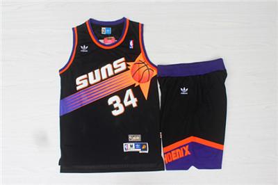 buy online b7b81 dc8e1 Phoenix Suns 34 Charles Barkley Black Hardwood Classics ...