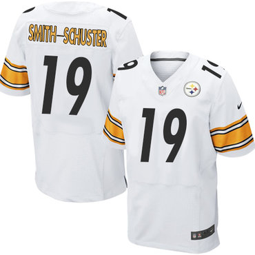 online store 803b5 c3d6b Nike Pittsburgh Steelers #19 JuJu Smith-Schuster White Men's ...