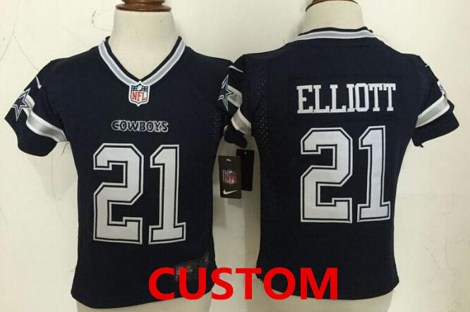 e1cd862fe009a Custom Toddler Dallas Cowboys Navy Blue Team Color Stitched NFL Nike Game  Jersey
