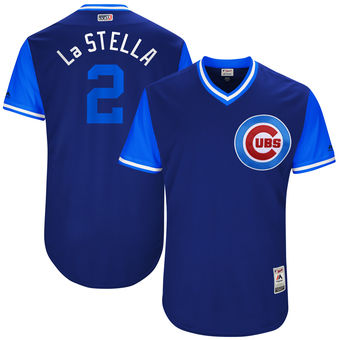 Men's Chicago Cubs Tommy La Stella La Stella Majestic Royal 2017 Players Weekend Authentic Jersey