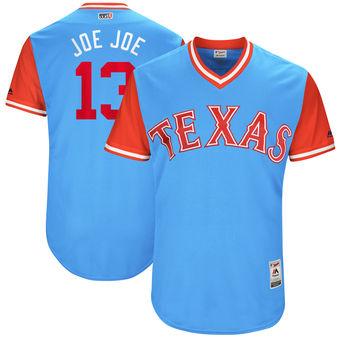 Men's Texas Rangers Joey Gallo Joe Joe Majestic Light Blue 2017 Players Weekend Authentic Jersey
