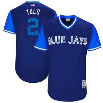 Men's Toronto Blue Jays Troy Tulowitzki Tulo Majestic Royal 2017 Players Weekend Authentic Jersey