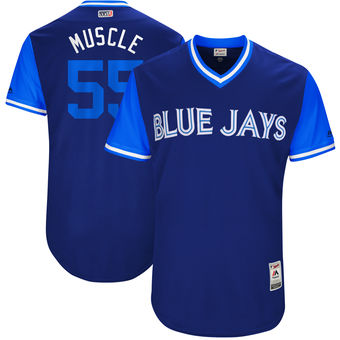 Men's Toronto Blue Jays Russell Martin Muscle Majestic Royal 2017 Players Weekend Authentic Jersey