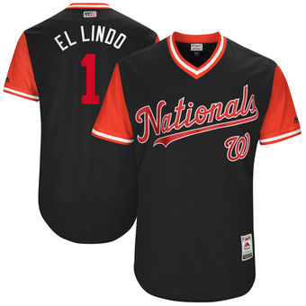 Men's Washington Nationals Wilmer Difo El Lindo Majestic Navy 2017 Players Weekend Authentic Jersey