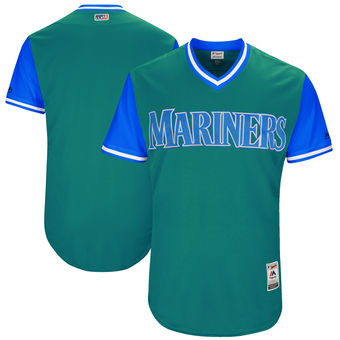 Men's Seattle Mariners Majestic Aqua 2017 Players Weekend Authentic Team Jersey