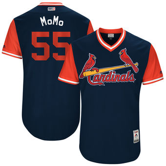 Men's St. Louis Cardinals Stephen Piscotty MoMo Majestic Navy 2017 Players Weekend Authentic Jersey