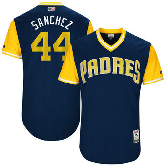 Men's San Diego Padres Hector Sanchez Sanchez Majestic Navy 2017 Players Weekend Authentic Jersey