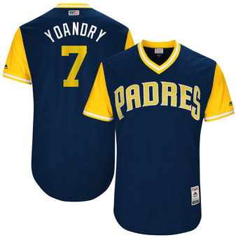 Men's San Diego Padres Manuel Margot Yoandry Majestic Navy 2017 Players Weekend Authentic Jersey