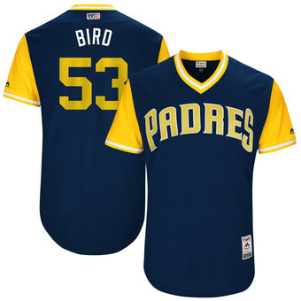 Men's San Diego Padres Christian Friedrich Bird Majestic Navy 2017 Players Weekend Authentic Jersey