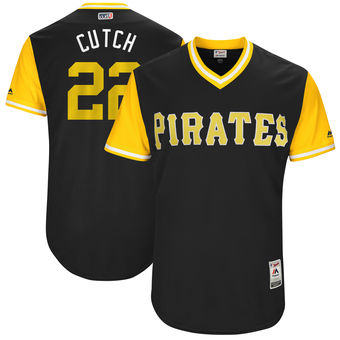 Men's Pittsburgh Pirates Andrew McCutchen Cutch Majestic Black 2017 Players Weekend Authentic Jersey