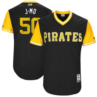 Men's Pittsburgh Pirates Jameson Taillon J-Mo Majestic Black 2017 Players Weekend Authentic Jersey