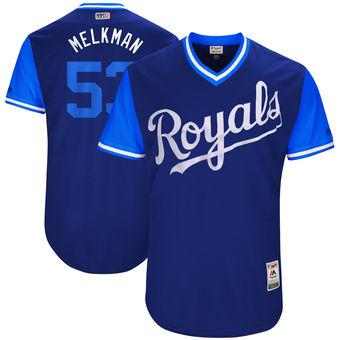 Men's Kansas City Royals Melky Cabrera Melkman Majestic Royal 2017 Players Weekend Authentic Jersey