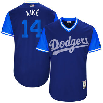 Men's Los Angeles Dodgers Enrique Hernandez Kiké Majestic Royal 2017 Players Weekend Authentic Jersey