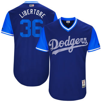 Men's Los Angeles Dodgers Adam Liberatore Libertore Majestic Royal 2017 Players Weekend Authentic Jersey