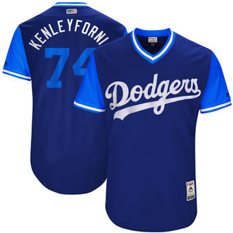 Men's Los Angeles Dodgers Kenley Jansen Kenleyfornia Majestic Royal 2017 Players Weekend Authentic Jersey