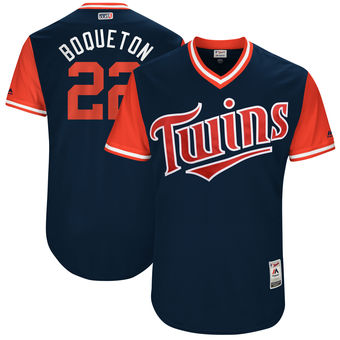 Men's Minnesota Twins Miguel Sano Boqueton Majestic Navy 2017 Players Weekend Authentic Jersey