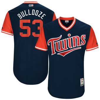 Men's Minnesota Twins Hector Santiago Bulldoze Majestic Navy 2017 Players Weekend Authentic Jersey