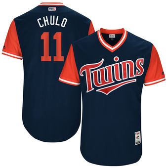 Men's Minnesota Twins Jorge Polanco Chulo Majestic Navy 2017 Players Weekend Authentic Jersey