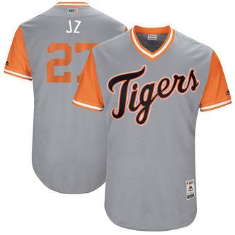 Men's Detroit Tigers Jordan Zimmermann J Z Majestic Gray 2017 Players Weekend Authentic Jersey