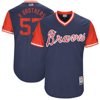 Men's Atlanta Braves Rex Brothers R Brothers Majestic Navy 2017 Players Weekend Authentic Jersey