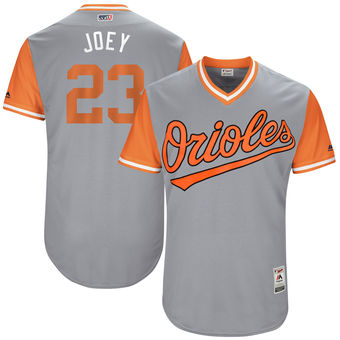 Men's Baltimore Orioles Joey Rickard Joey Majestic Gray 2017 Players Weekend Authentic Jersey