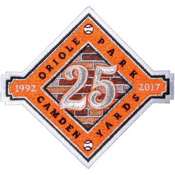 Baltimore Orioles Camden Yards 25th Anniversary Commemorative Patch