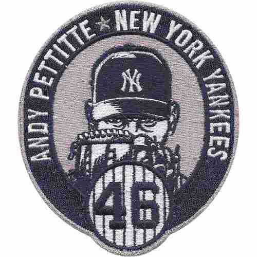 2015 New York Yankees 46 Andy Pettitte Commemorative Retirement Patch