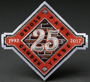 2017 Baltimore Orioles 25th Years Anniversary and Commemorative Patch