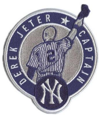 New York Yankees Derek Jeter Retirement Captain Patch