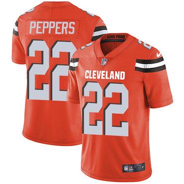 Nike Cleveland Browns #22 Jabrill Peppers Orange Alternate Men\'s Stitched NFL Vapor Untouchable Limited Jersey