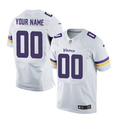Men s Nike Minnesota Vikings Customized Elite White NFL Jersey on ... 3ae163345