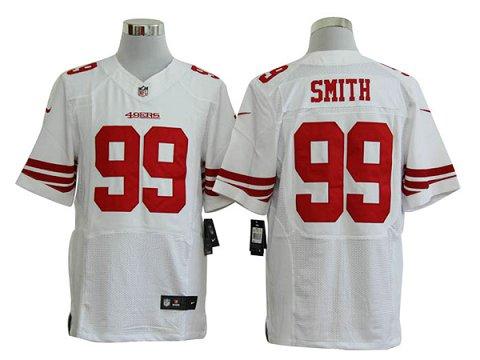 Size 60 4XL-Aldon Smith San Francisco 49ers #99 White Stitched Nike Elite NFL Jerseys