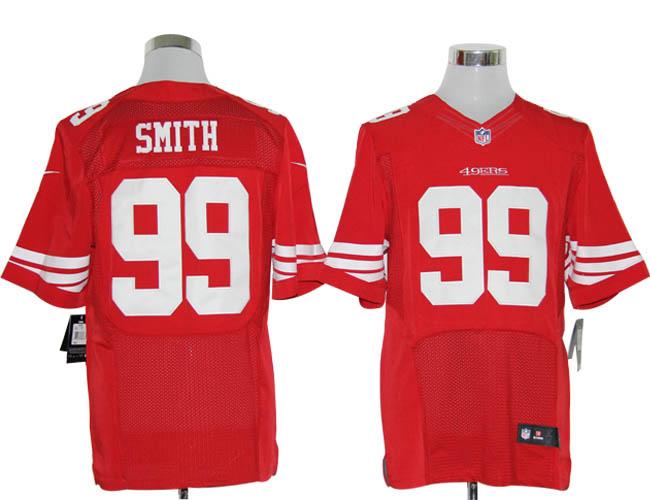 Size 60 4XL-Aldon Smith San Francisco 49ers #99 Red Stitched Nike Elite NFL Jerseys