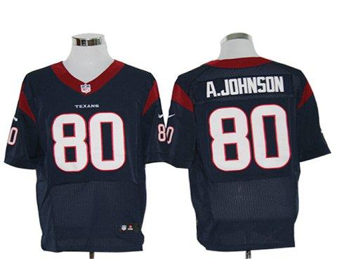 Size 60 4XL-Andre Johnson Houston Texans #80 Navy Blue Stitched Nike Elite NFL Jerseys