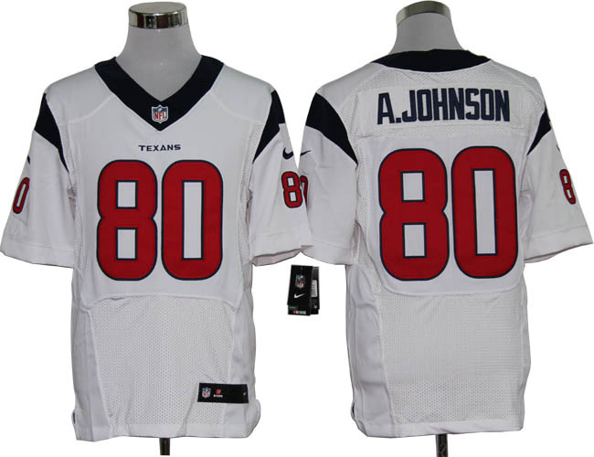 Size 60 4XL-Andre Johnson Houston Texans #80 White Stitched Nike Elite NFL Jerseys