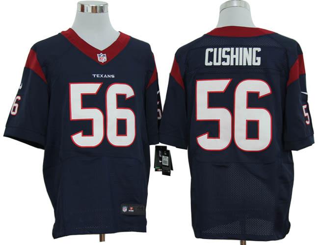 Size 60 4XL-Brian Cushing Houston Texans #56 Blue Stitched Nike Elite NFL Jerseys