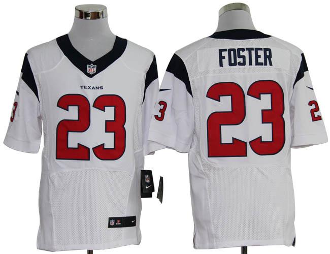 Size 60 4XL-Arian Foster Houston Texans #23 White Stitched Nike Elite NFL Jerseys