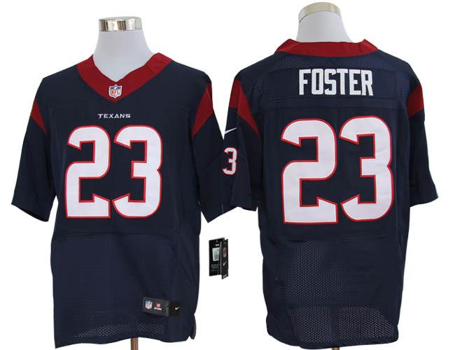 Size 60 4XL-Arian Foster Houston Texans #23 Navy Blue Stitched Nike Elite NFL Jerseys
