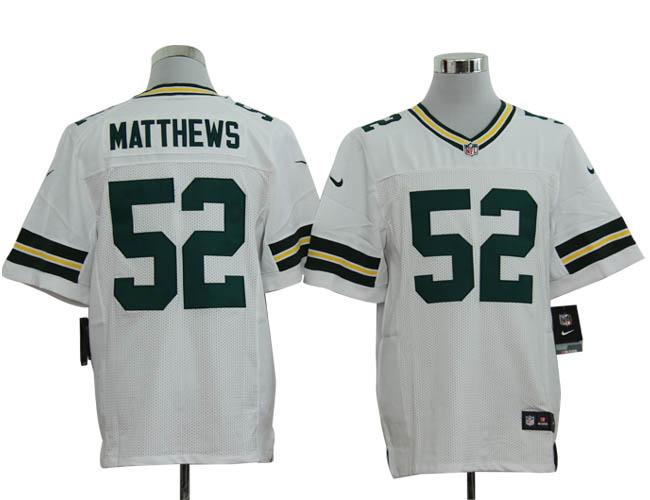 Size 60 4XL-Clay Matthews Green Bay Packers #52 White Stitched Nike Elite NFL Jerseys